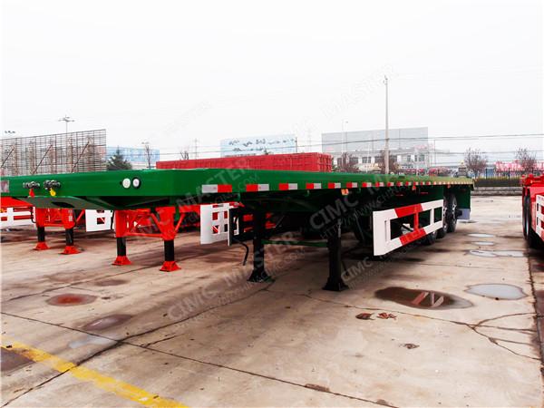 3 axle flatbed container semi trailer