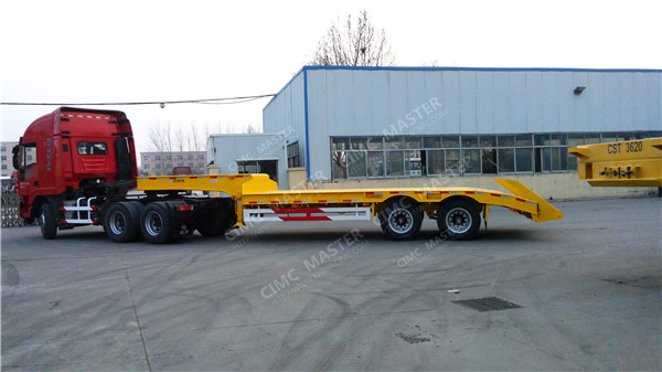 2 axle agricultural low loader trailer