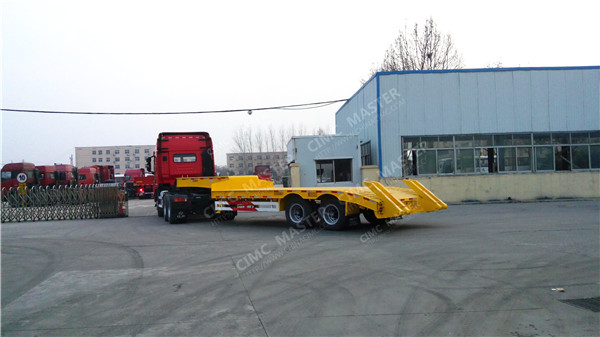 2 axle low loader trailer
