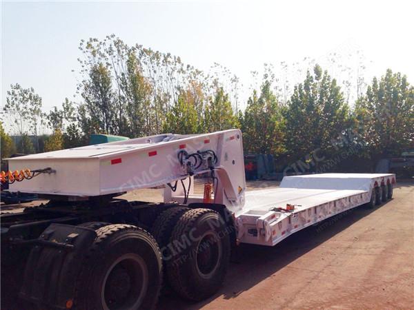 100 tons gooseneck detachable front loading lowboy trailer 02.jpg