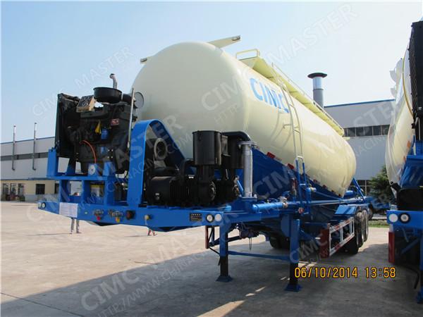 42cbm to 45cbm hydrated lime bulker trailer