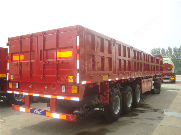 43ft flatbed trailer with sidewalls 60 tons