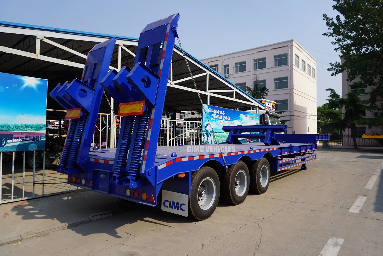 40 tons 50 tons low bed trailer with twist lock