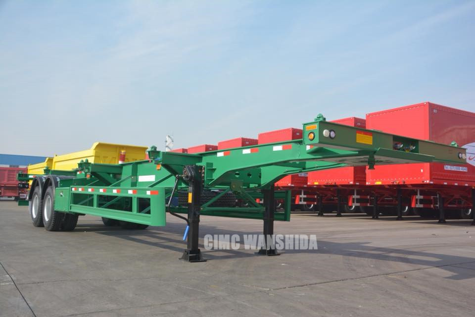 20 footer skeletal trailer with 11R22.5 tires