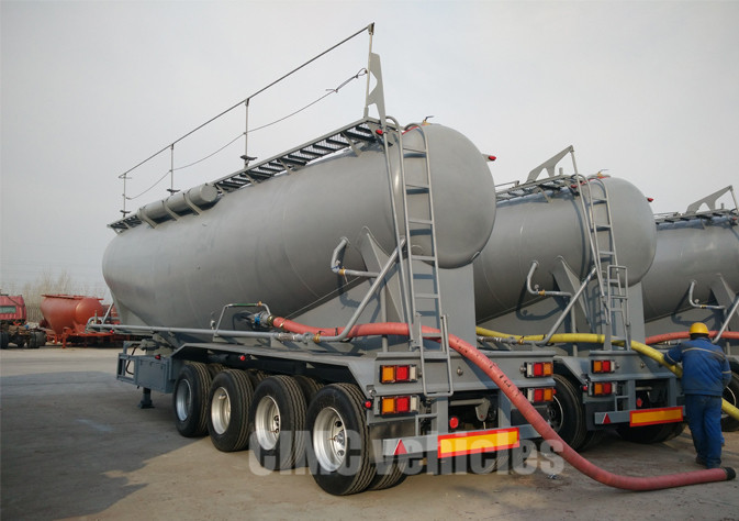 4 axle Bulk Fly Ash Trailer