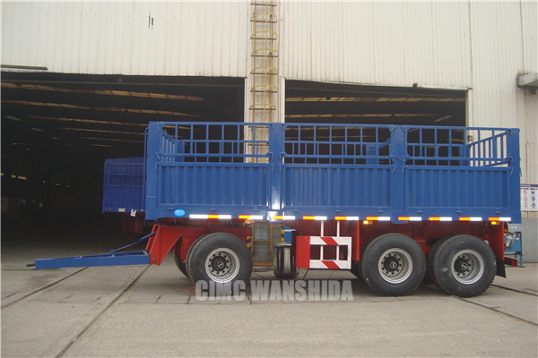 Tri-axles fence draw bar trailer