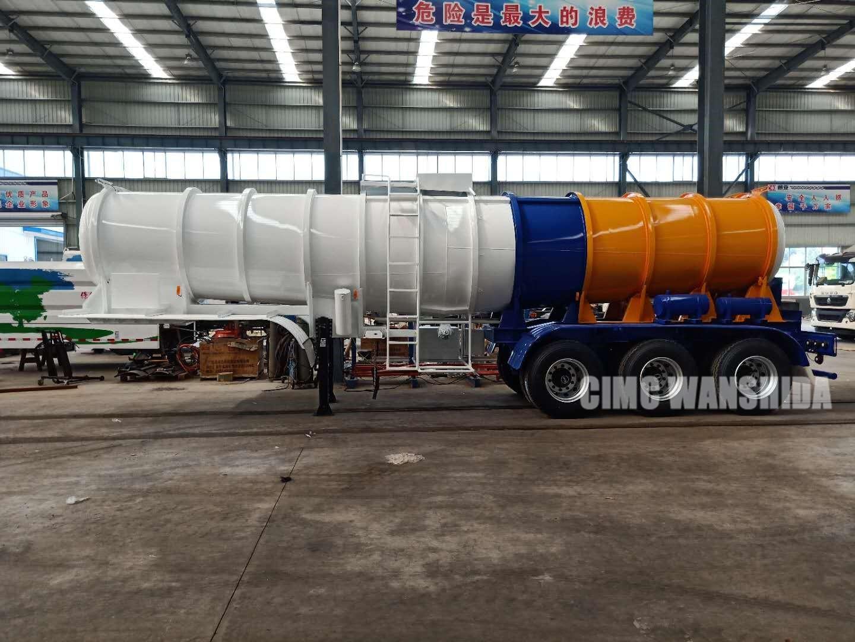 sulfuric acid tanker trailer