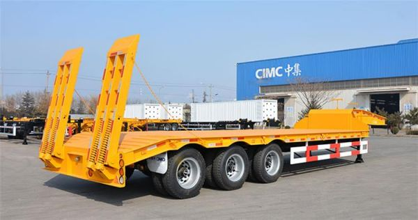 CIMC 80T Semi Low Bed Trailer for Sale in Senegal