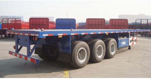 How do you load a flatbed trailer? CIMC tri axle trailer for sale