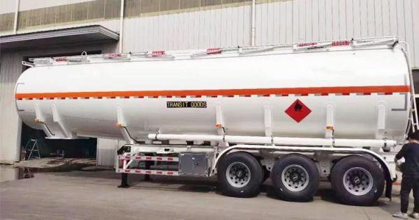 CIMC 45000 Liters Fuel Tanker Trailer will be sent to Ghana