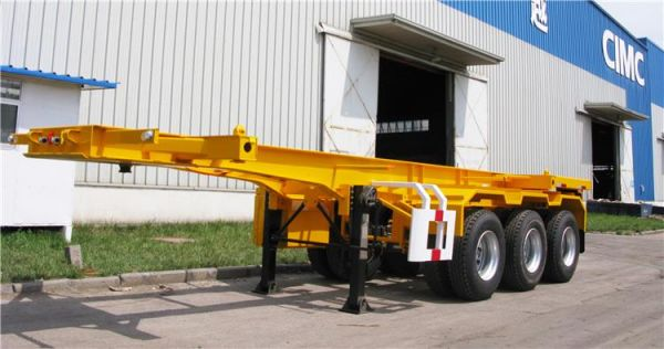 CIMC 20 foot container chassis for sale in Zambia