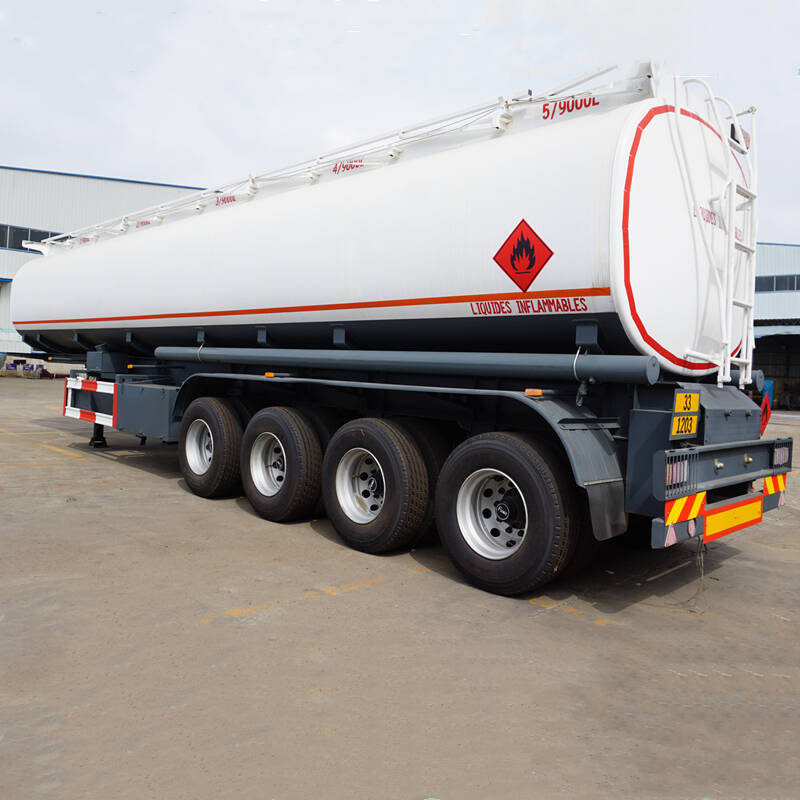 4 Axles 45000 liter Fuel Tanker for Africa