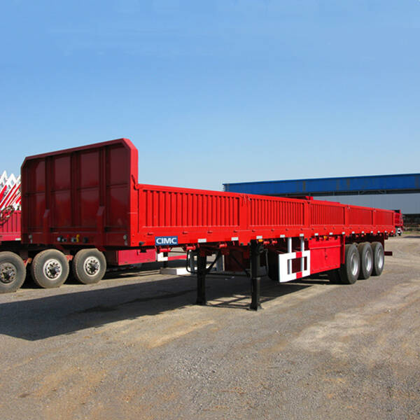 3 Axle Trailer with Side Wall