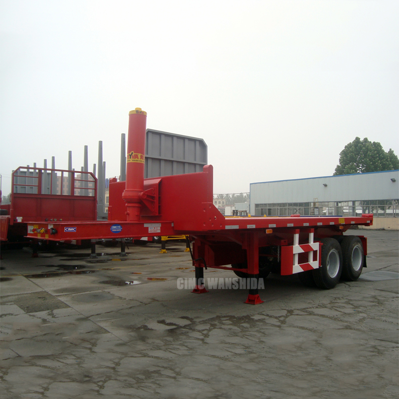 Tipping container semi trailer