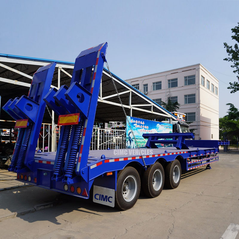 40 tons low bed semi trailer