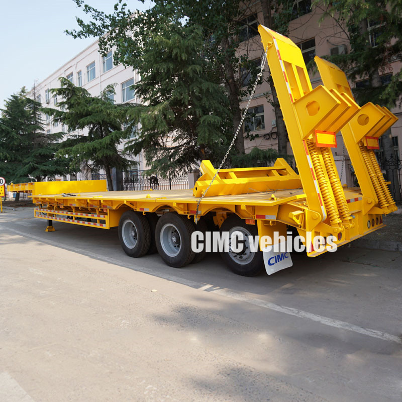 3 axles drop deck trailers for sale
