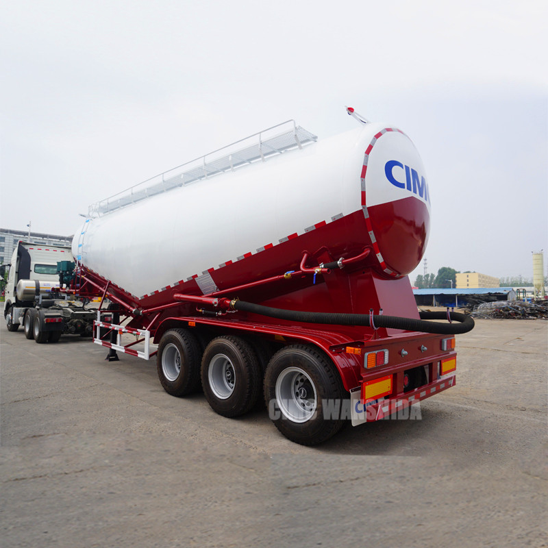 cement bulk carrier cement truck semi trailer cement tanker trailer