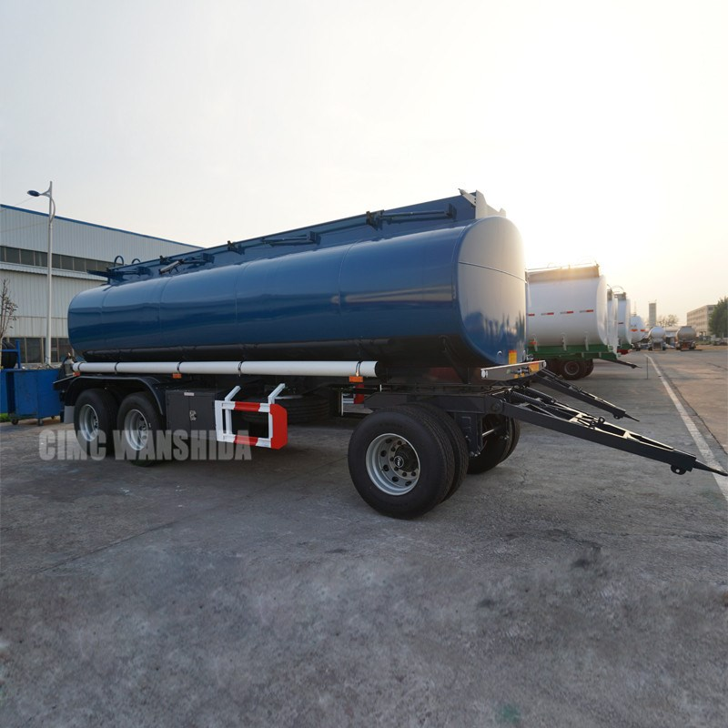 Fuel dolly drawbar tanker trailers