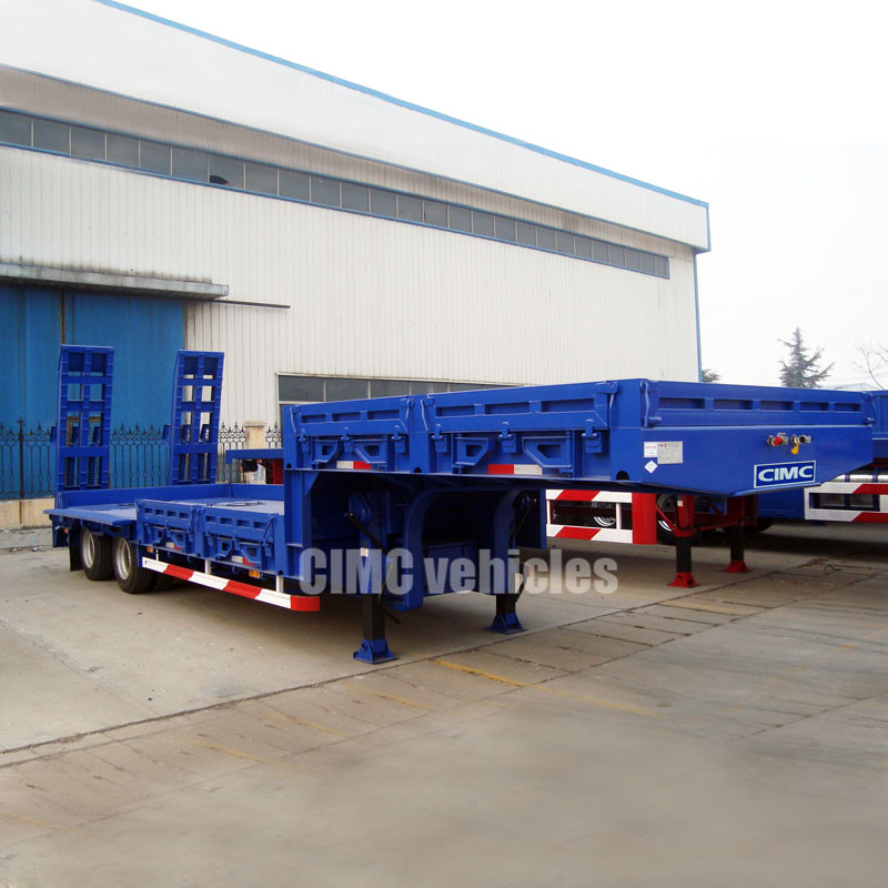 2 axles semi low bed trailer