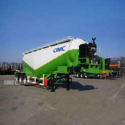 bulk lime powder goods truck trailer